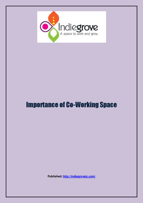 Importance of Co-Working Space