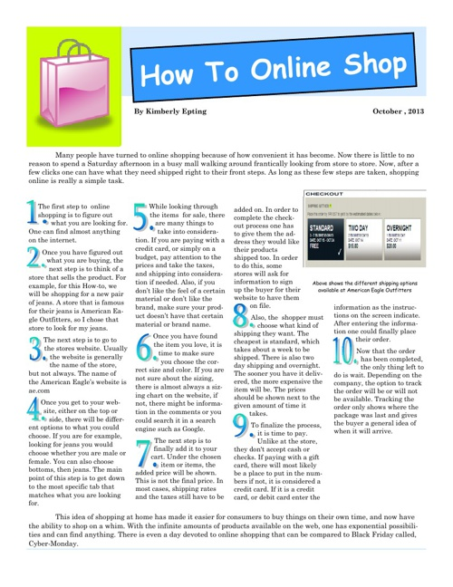 How To Online Shop