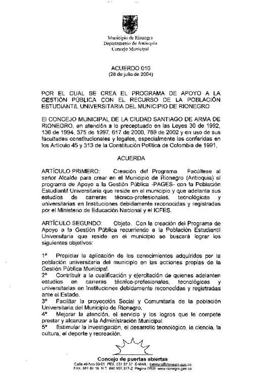 Acuerdo 010