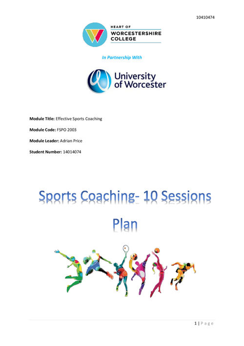 Coaching Session Plans