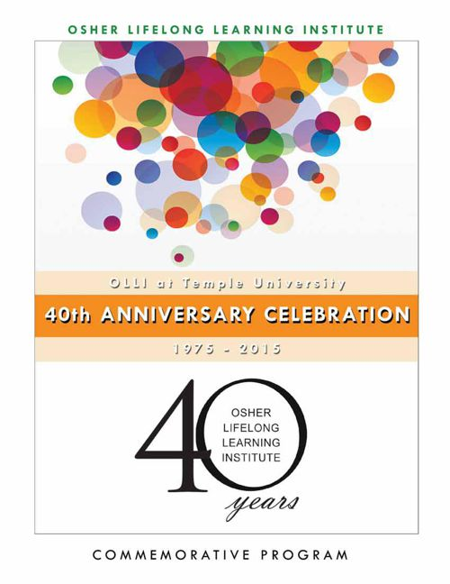 OLLI 40th Anniversary Commemorative Program Guide