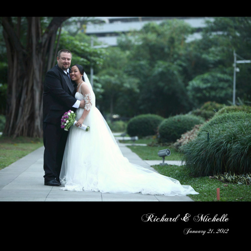 Richard & Michelle 10x10 album