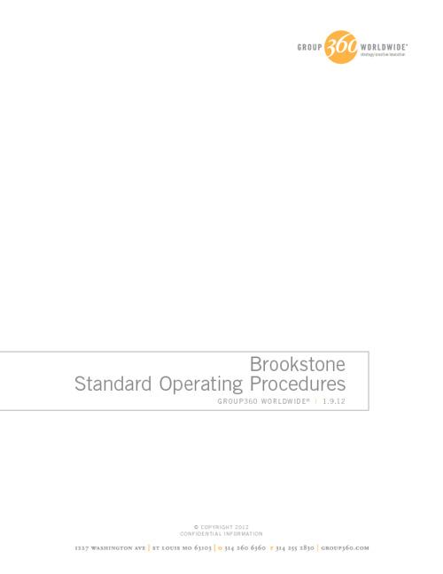 Brookstone_SOP