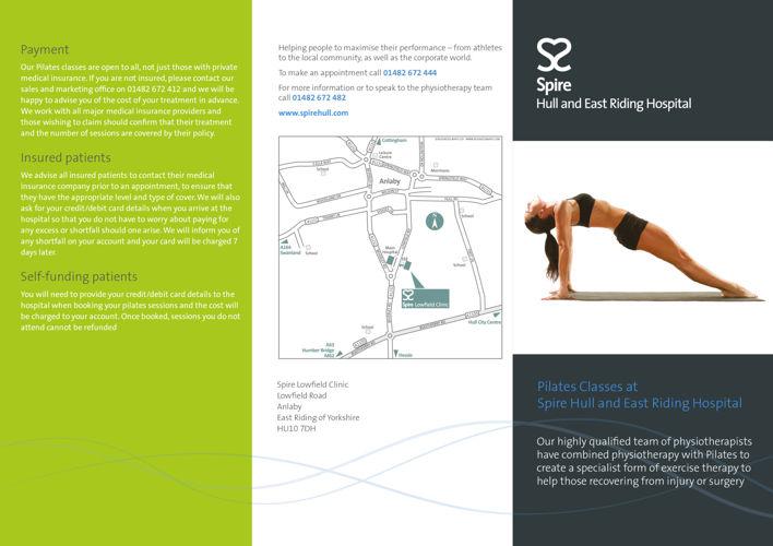 Spire Hull - Pilates leaflet