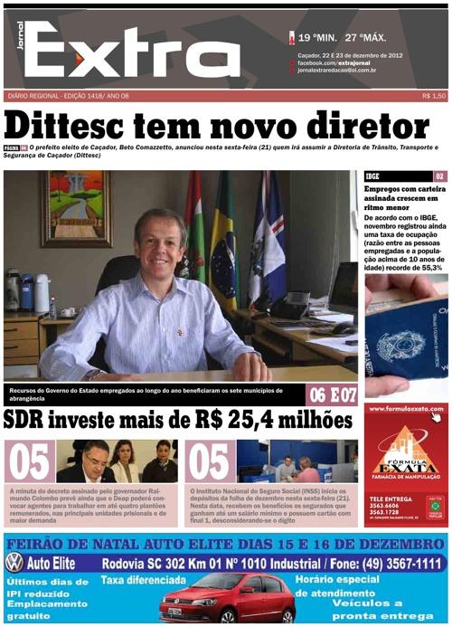 Jornal Extra 22 e 23/12/2012