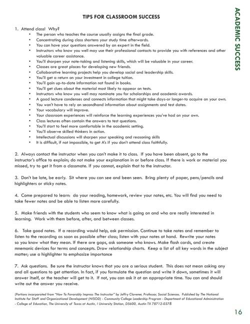 New Student Orientation Online Handbook Part 2