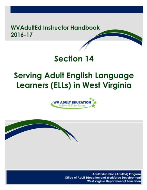 WVAdultEd Instructor Handbook 2015 - 2016 Section 14