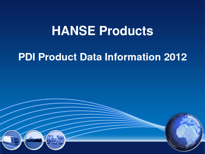 HANSE Products 2012