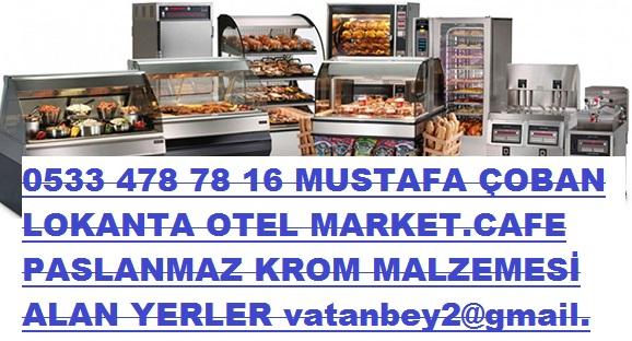 çekmeköy ekşioğlu 2.el-lokanta-Paslanmaz krom malzemesi alan yer