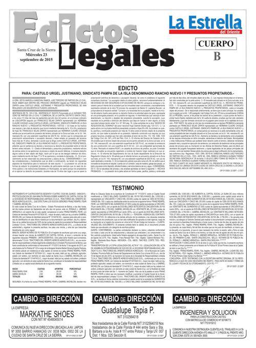 Judiciales 23 miércoles - septiembre 2015