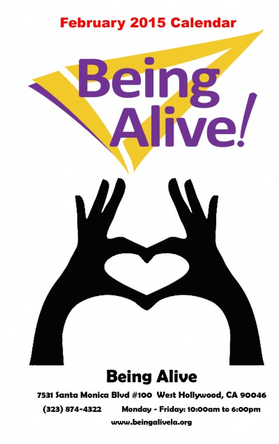 Being Alive's February 2015 Calendar