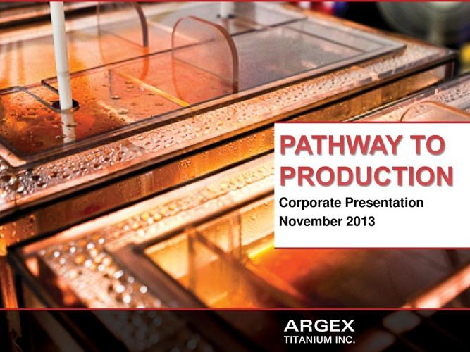 Argex Presentation: Opportunity Knocks V - Toronto, ON