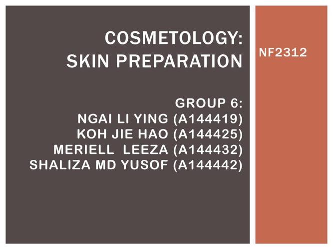 COSMETOLOGY group 6