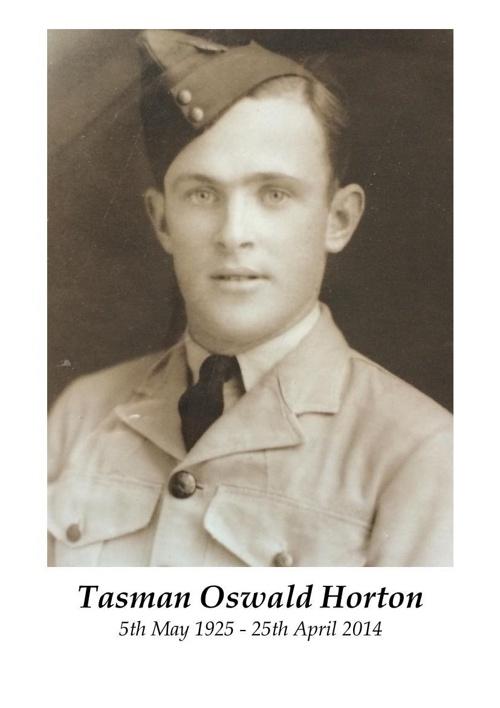 4 Order of Service for Tasman Oswald Horton