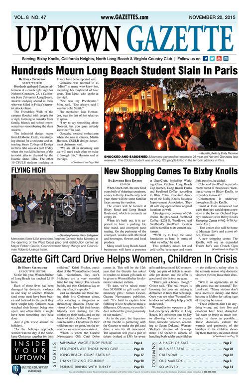 Uptown Gazette  |  November 20, 2015