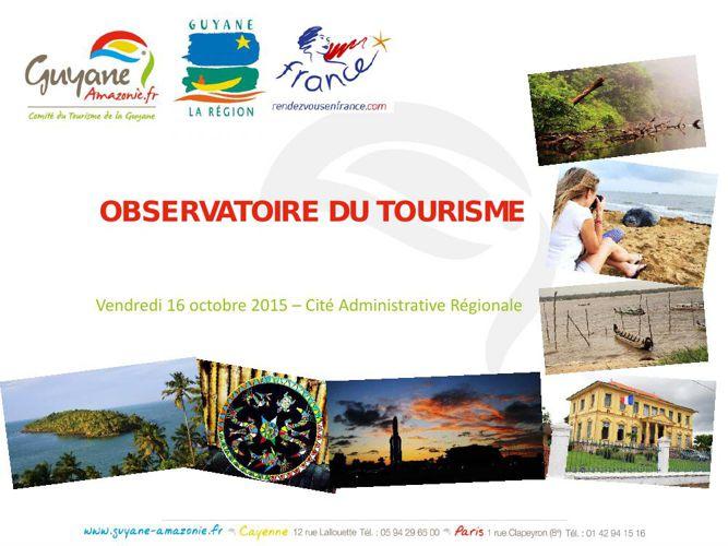 La présentation de l'Observatoire du tourisme par le Comité
