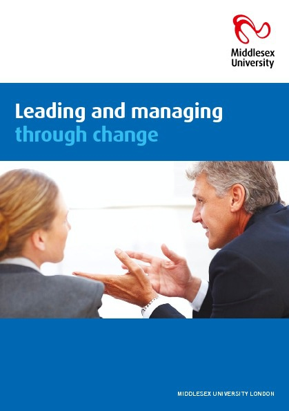 Copy of Leading and managing through change