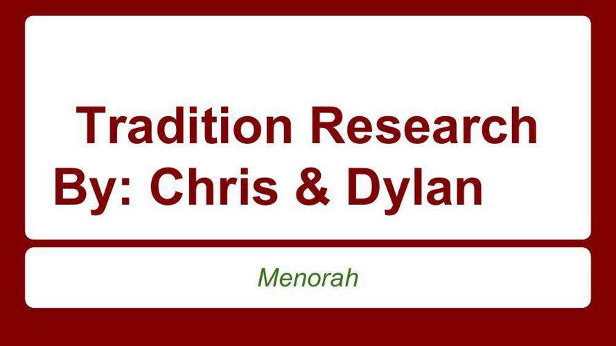 Chris Conant & Dylan Ubelacker's Tradition Story
