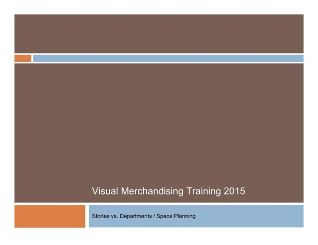 Visual Training Space Planning 2015