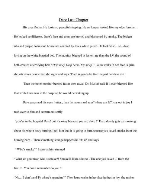 Dare-Last Chapter