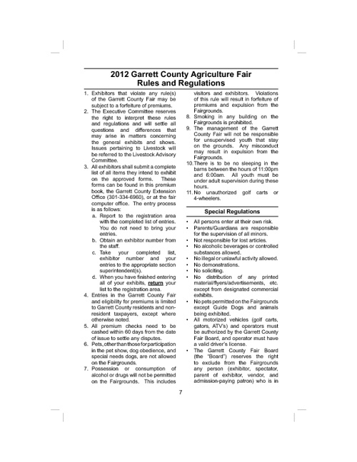 General Rules and Regulations