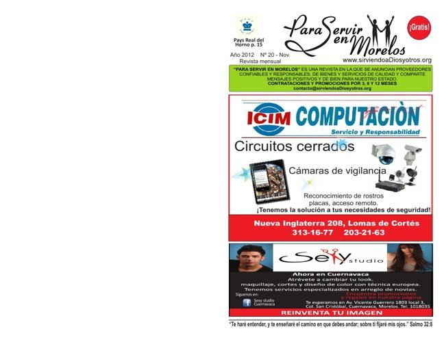 Para Servir en Morelos - Noviembre 2012