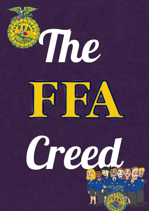 FFA CREED CHILDREN'S BOOK