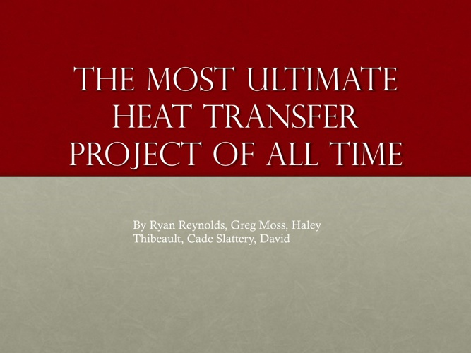 heat transfer project