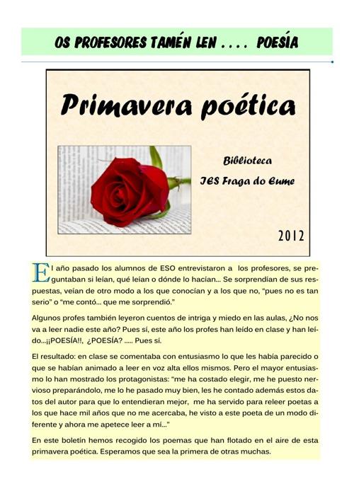 Poemas leidos por profesores
