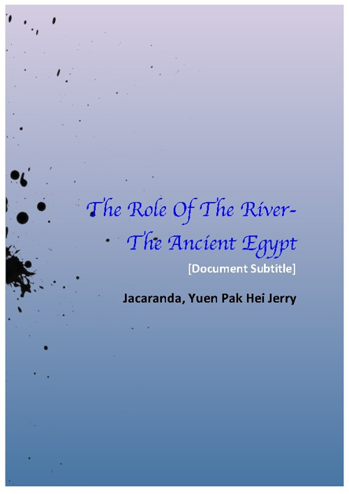 The Role Of The River-The Ancient Egyptians