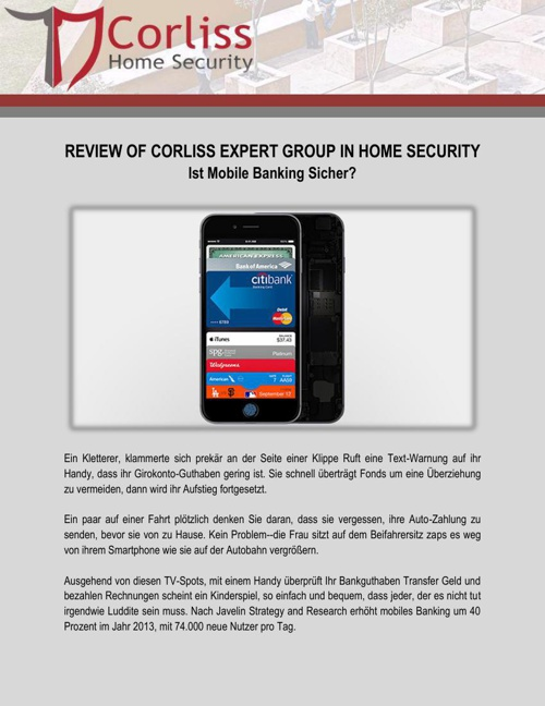 Review of Corliss Expert Group in Home Security