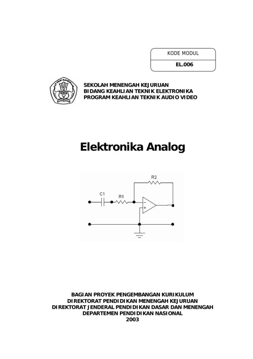 Copy of Elektronika Analog