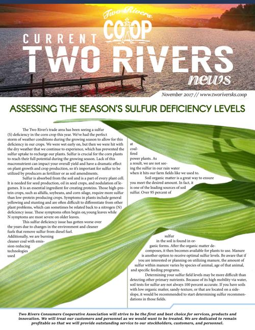 Current Two Rivers News | November 2017