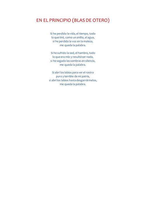 comentario de texto (Alba) de Blas de Otero
