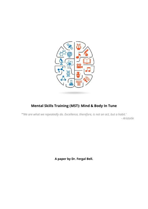 Mental Skills Training (MST): Mind & Body In Tune