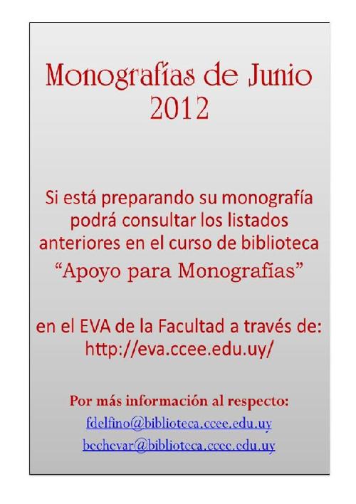 Monografías Junio 2012