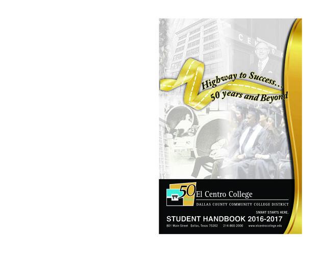 El Centro Student Handbook, 2016-2017