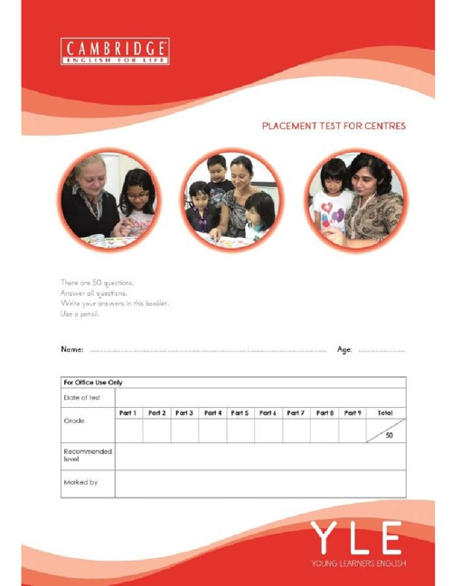 e-Brochure CEFL YLE Placement Test For Schools