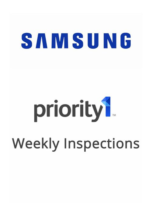 Priority 1 - Weekly Inspections