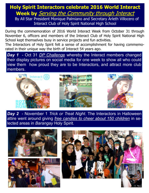 2016 World Interact Week
