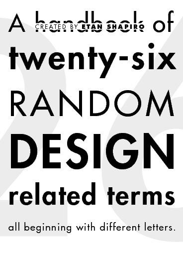 Alphabet of Design