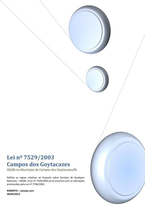 Lei nº 7529/2003 - Campos dos Goytacazes/RJ
