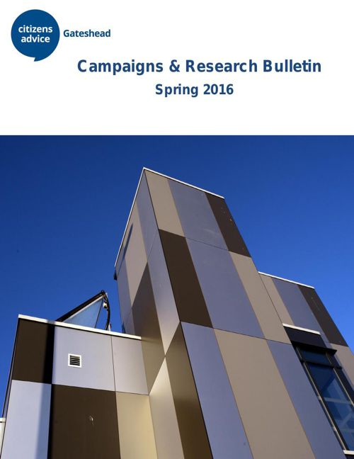Campaigns & Research Bulletin Spring 2016
