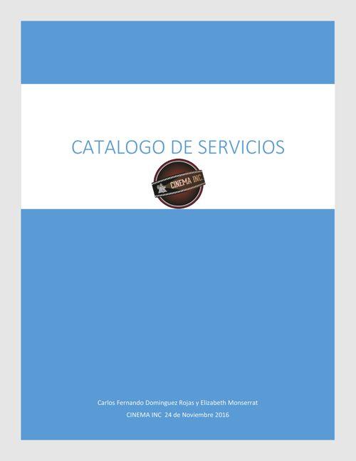 catalogo CINEMA INC