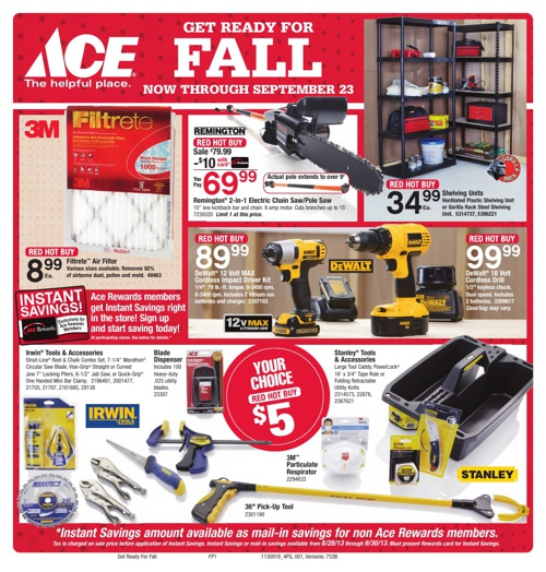 ACE HARDWARE SEPT 18-23