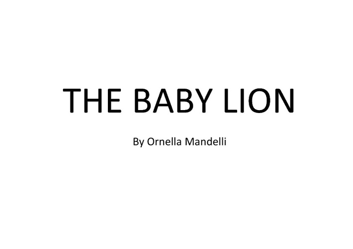 The baby lion