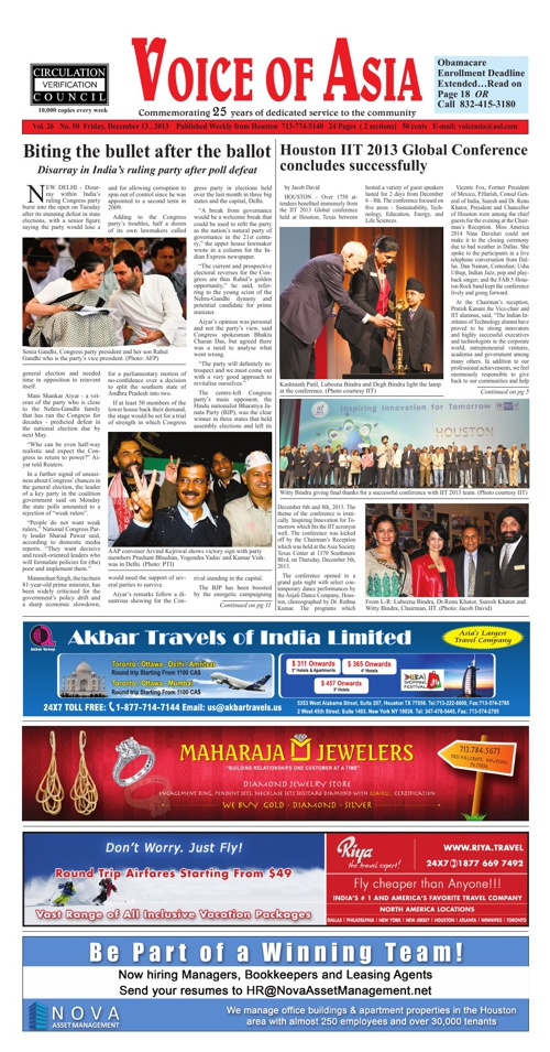 Voice of Asia Dec 13 2013