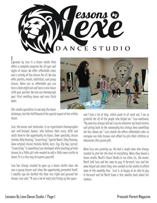 Lessons by Lexe Dance Studio - Prescott Parent Magazine