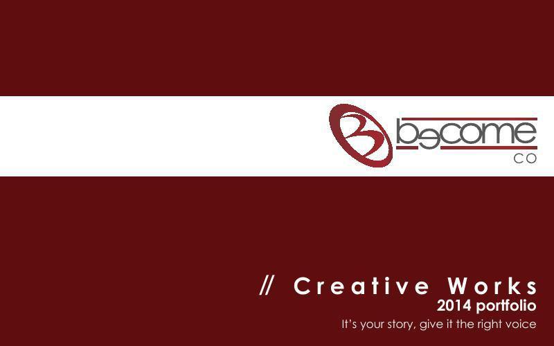 Become Co. Creative Work 2014