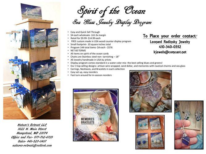 Spirit of the Ocean Display Program order sheet- leonard